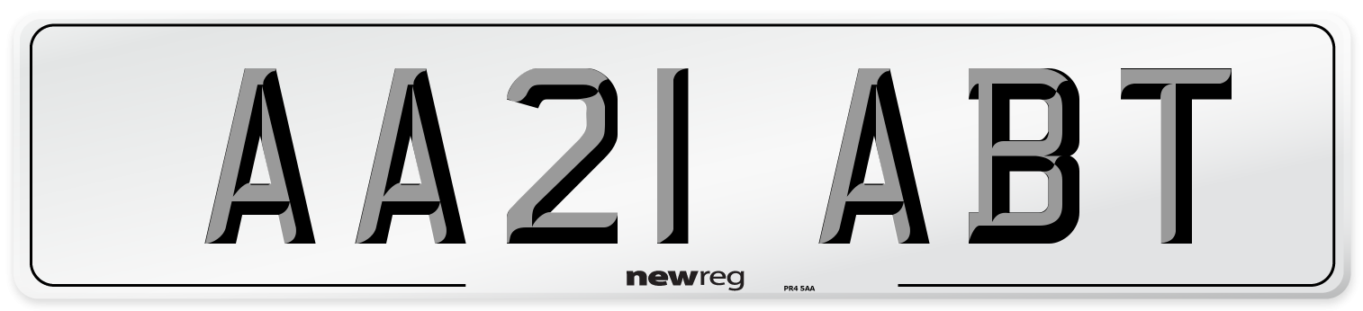 AA21 ABT Number Plate from New Reg
